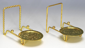 Brass Cup u0026 Plate Stand & Plate Cup Saucer u0026 Dinnerware Place Setting Display Stands ...